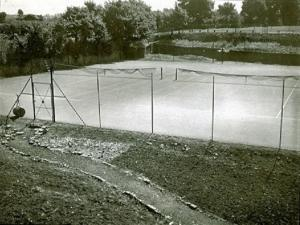 Tennis court photographed by Tony Hills